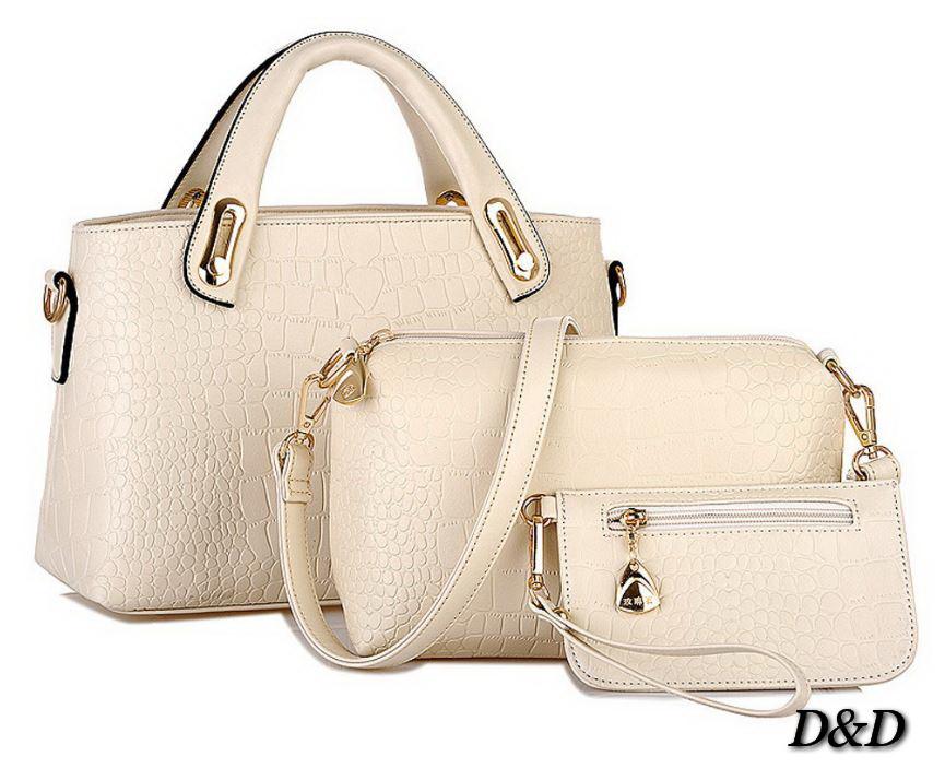 dbf48e21a551 Набор женских сумок бежевый - Компания