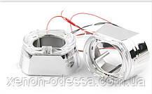 """Маска для ксеноновых линз 3.0"""" : BMW F-Style G137-CREE White со светодиодными Ангельскими Глазами LED CREE, фото 2"""