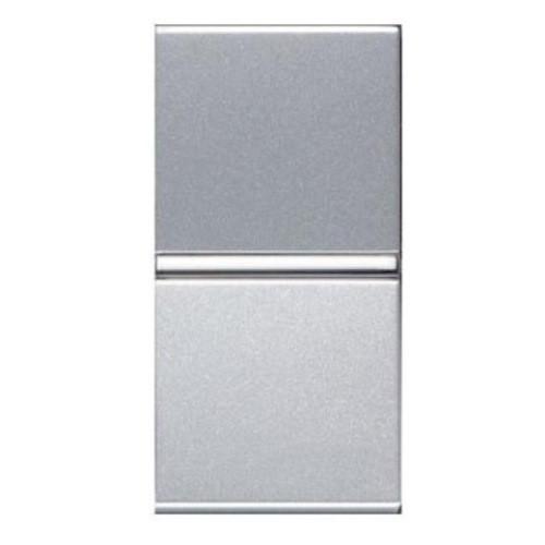 Вимикач 1 кл. універсальний (1 мод.) ABB Zenit Срібло N2102 PL