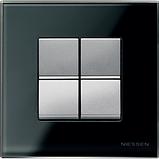 Выключатель 1 кл. универсальный (1 мод.) ABB Zenit Серебро N2102 PL, фото 3