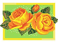 Схема для вышивки бисером цветы Оранжевые розы