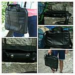 Сумка для ноутбука, под диагональ 15,6, иск.кожа, черн, фото 4