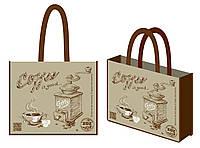 """Эко-сумка 34,5*41,5*12см """"Добра кава"""", 300017"""