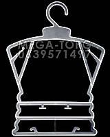 Плечики каркасЛ-23 белого цвета,плечи 23 см, высота 31 см, талия 20 см, бедра 18 см, ширина плеча 0,4 см.