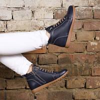 Ботинки кожаные tr7027blue