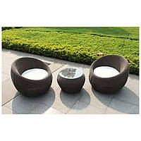 Комплект мебели Domingo из ротанга Elit (SC-FT021) Brown Mixed YF1217-R ткань A13815