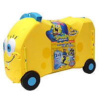 Детский чемодан машинка каталка Губка Боб