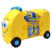 Детский чемодан машинка каталка Губка Боб, фото 1