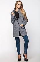 Легкое женское серое пальто (Мечта leo), фото 2