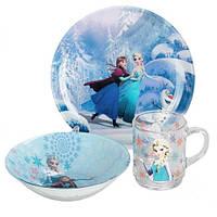 """Набор детской посуды Luminarc """"Disney Frozen"""" 3 пр"""