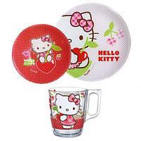 "Набор детской посуды Luminarc ""Hello Kitty Cherries"" 3 пр"