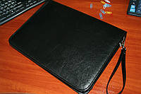 Папка для документов кожаная 7109, иск.кожа., черн