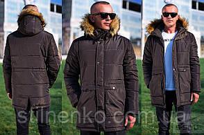 Демисезонная мужская куртка с мехом, M, L, XL, XXL