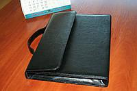 Папка портфель для документов кожаная 814, иск.кожа., черн