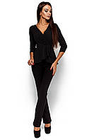 Стильна жіноча чорна блузка Kasio
