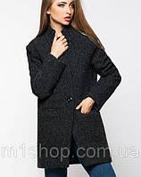 Легкое женское темно-зеленое пальто (Мечта букле leo)