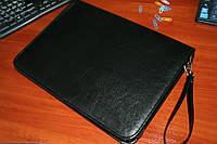 Папка для документов кожаная 7103, иск.кожа., черн