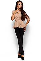 Стильна жіноча бежева блузка Kasio