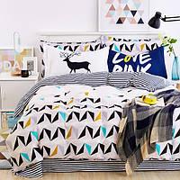 Постельное белье Love deer 100% хлопок комплект полуторный кровать 1.5м