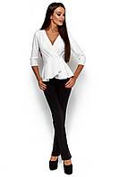 Стильна жіноча біла блузка Kasio
