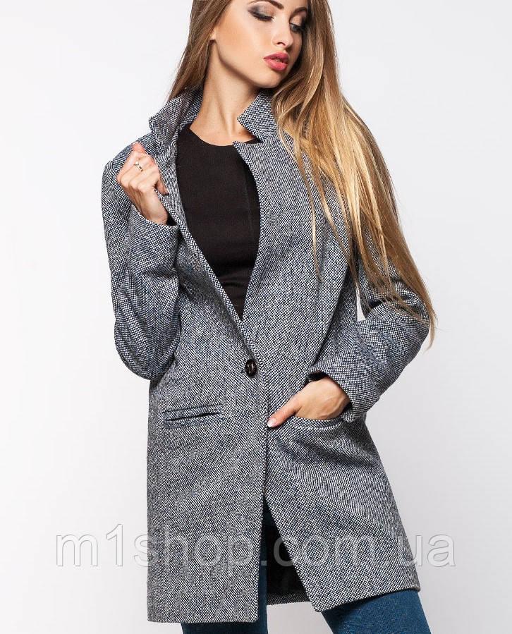 Легкое женское серое пальто (Мечта leo)