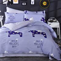 Постельное белье Pegasus саржа 100% хлопок комплект полуторный кровать 1.5м