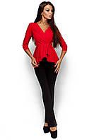 Стильна жіноча червона блузка Kasio