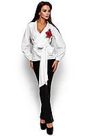 Жіноча біла блузка з вишивкою Bruklin
