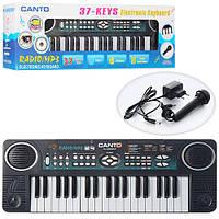 Детский синтезатор, MP3, FM радио, микрофон, функция караоке HL-3822UF