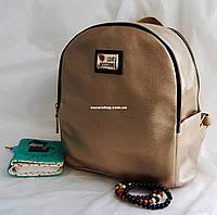 Кожаный Мини рюкзак Moschino. Хит сезона! Выбор. Кожаная Женская сумка. РД002
