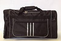 Спортивная дорожная сумка черного цвета размера M