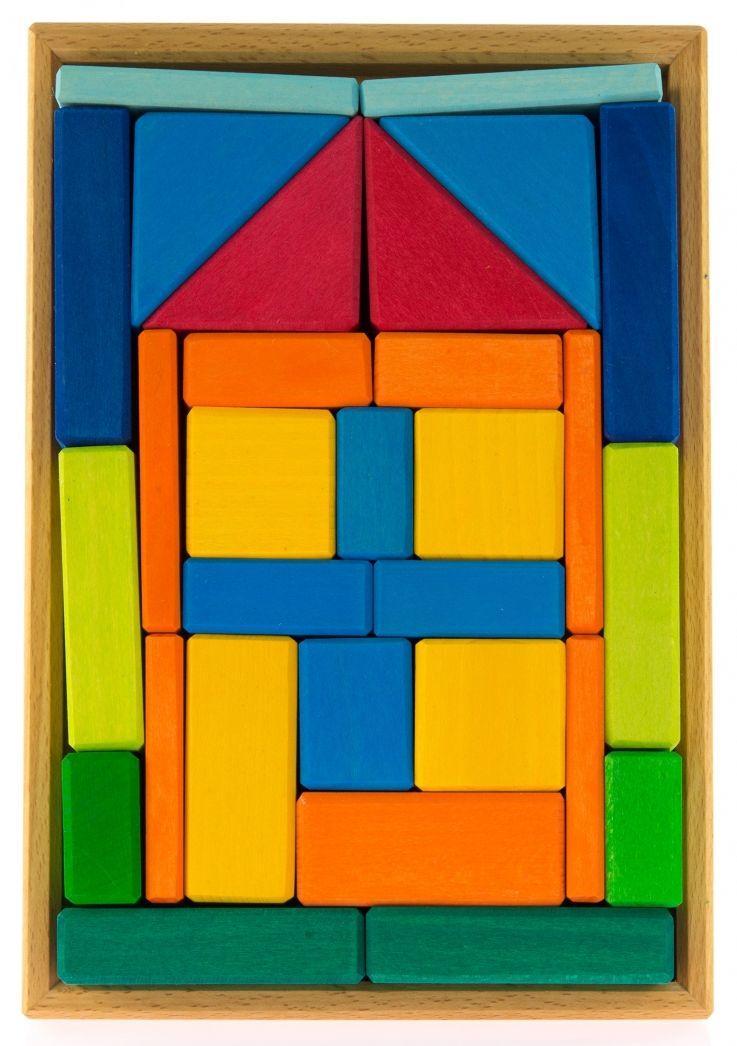 Яркий Конструктор деревянный Дом nic cubio NIC523276