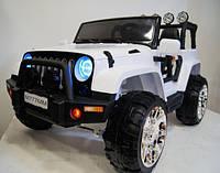 Детский электромобиль M777MM, кожа, полный привод, белый