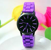 Женские часы силиконовые Geneva Casual Purple фиолетовые, фото 1