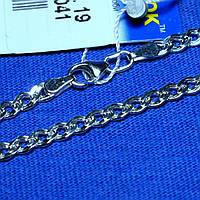 Плоский серебряный браслет плетение Нонна 18 см 90220206041, фото 1