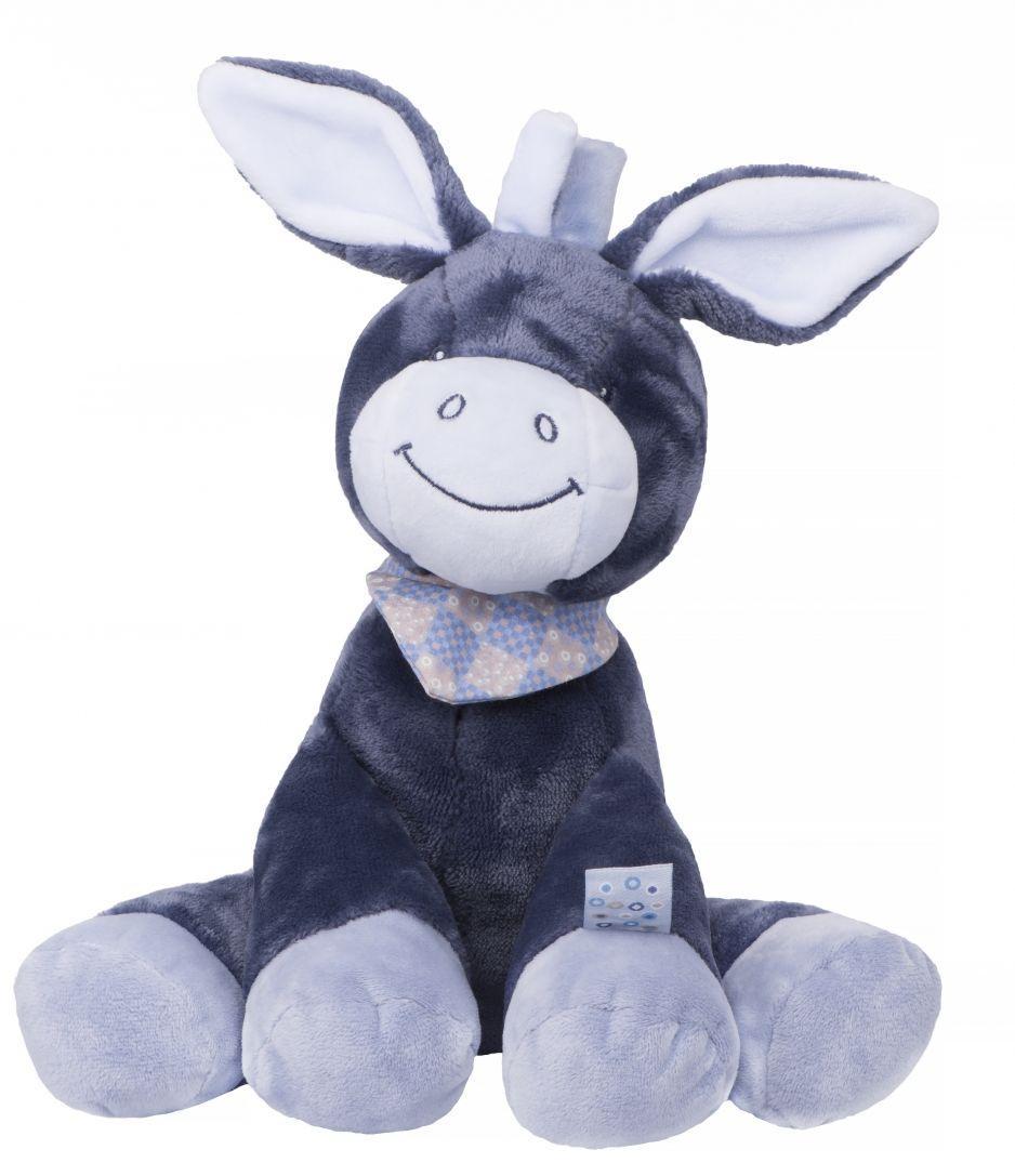 Мягкий симпатичный ослик Алекс 34 см Nattou 321013 синий
