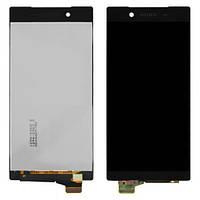 Дисплей Sony E6833 Xperia Z5 Plus Premium Dual Sim/E6853/E6883 с тачскрином в сборе, серебристый, с рамкой