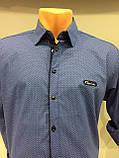 Мужская рубашка стрейч рукав трансформер S,M, фото 3