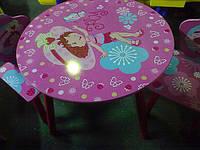 Детский столик со стульчиками Fey J 002-274 «Девочка» круглый  киев, фото 1