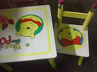 """Детский столик и два стульчика из дерева """"Винни-Пух"""" BB 08806 киев, фото 1"""