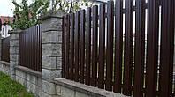 Евро-ШТАКЕТ металлический 2,0 х 0,5м. стандарт, 1-ст. зашивка