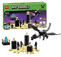 """Конструктор Bela Minecraft 10178 """"Дракон Края Эндер"""" (аналог LEGO 21117), 632 детали, фото 1"""