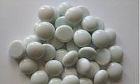 Камни для декора круглые молочно-белые d 2 см