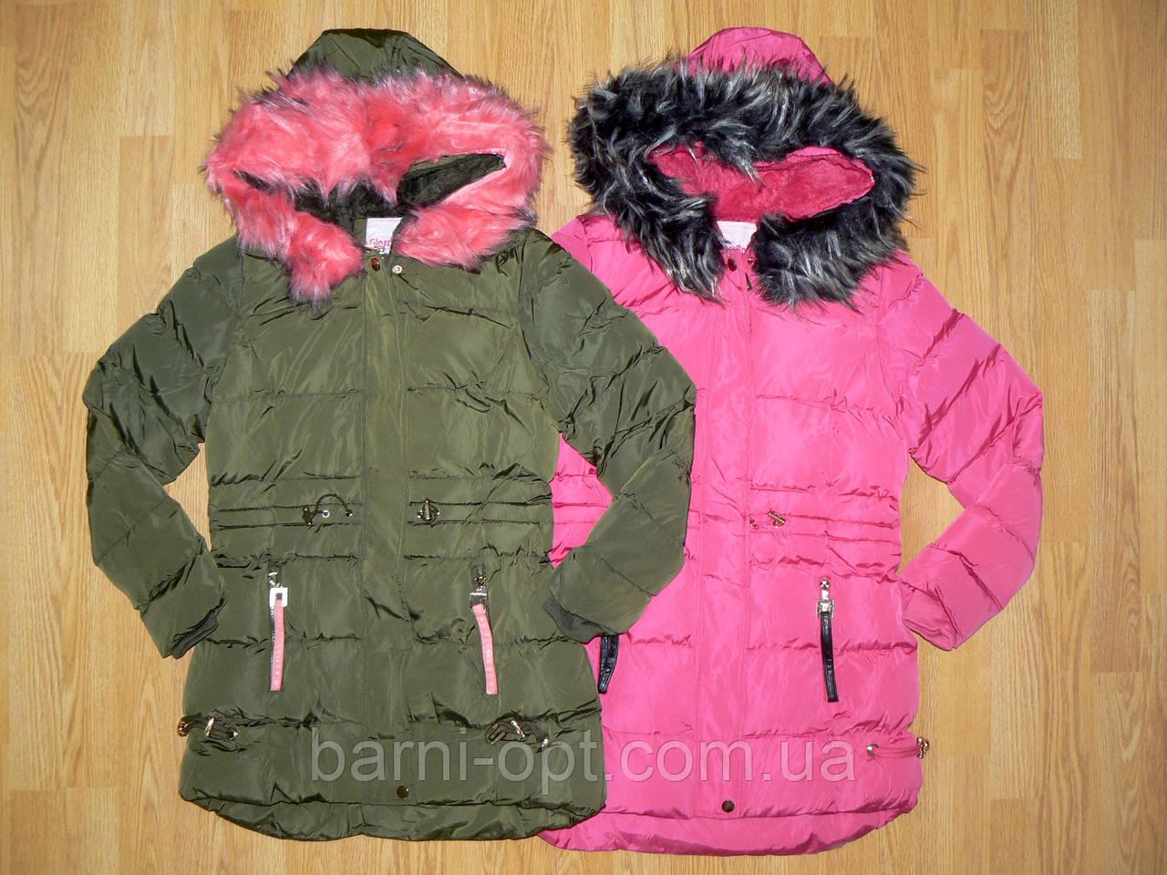 Куртки удлиненные для девочек оптом, Glass Bear , 134-164рр.