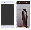 Дисплей (екран) для Sony F3212 Xperia XA Ultra Dual Sim, F3216 Соні + тачскрін, білий, оригінал