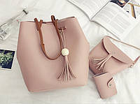 Женские сумки розовый набор