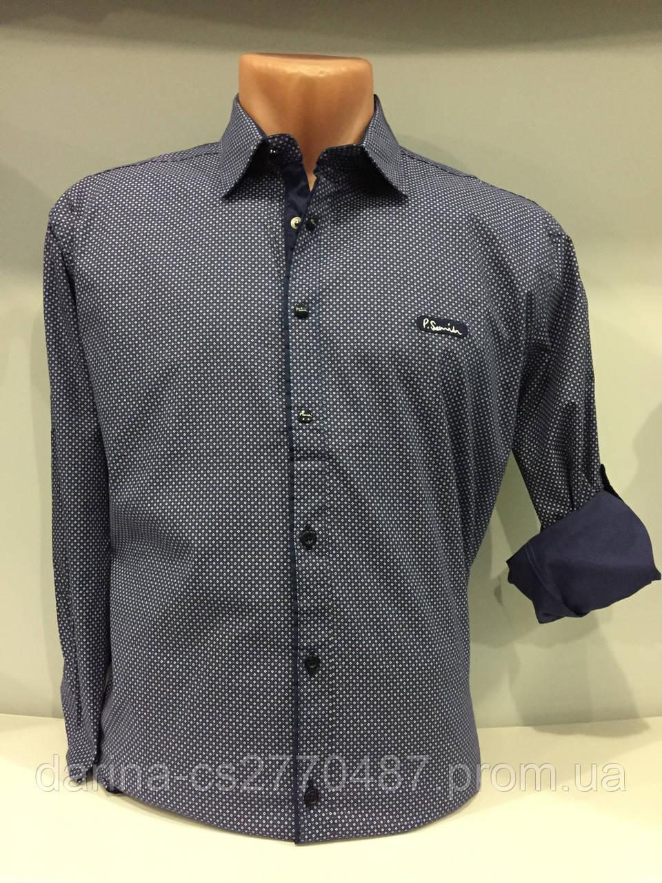 Мужская рубашка стрейч в мелкий рисунок S,XL,2XL