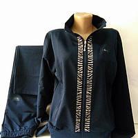 Женский спортивный трикотажный костюм, производство Турция, синий, размер 48, 50.
