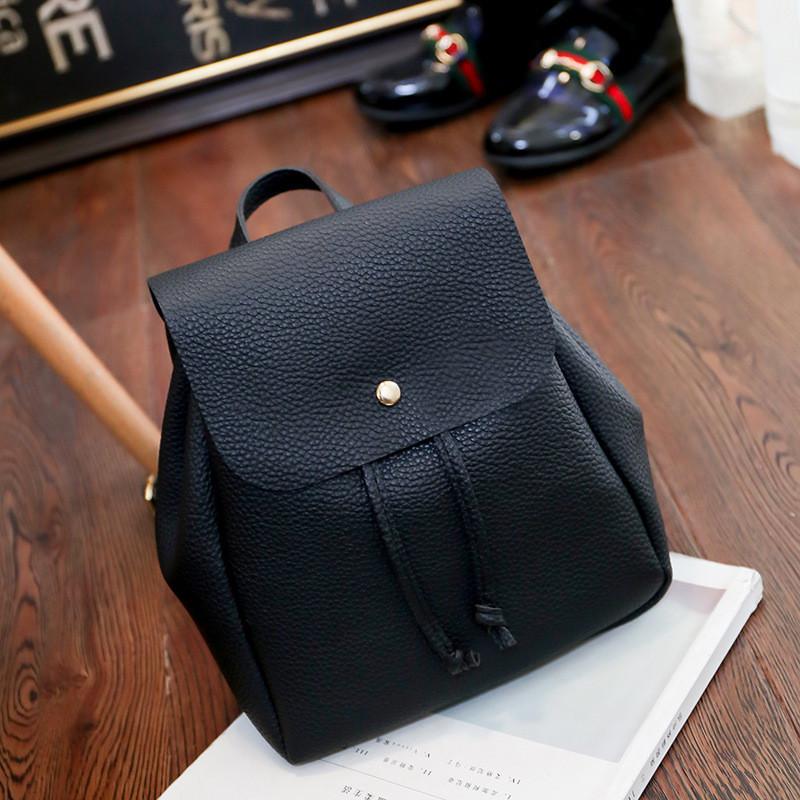 0addddd3740b Женский рюкзак маленький черный 2