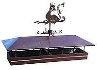 Колпак на дымоход с флюгером (котик), фото 1